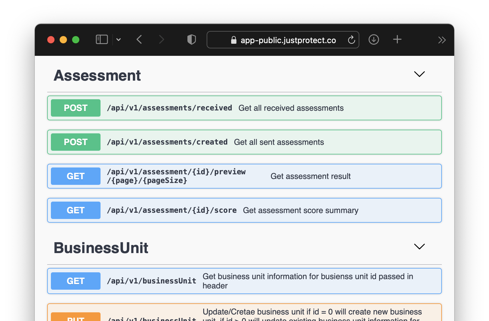 JustProtect API